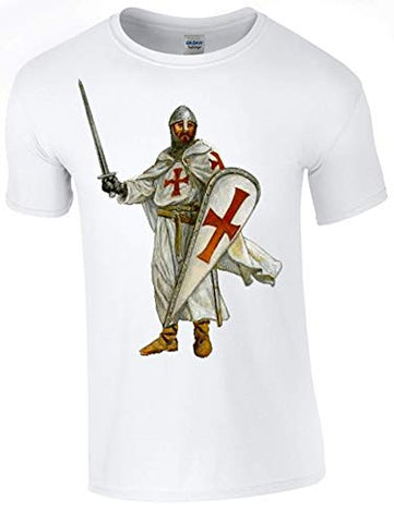 Bear Essentials Clothing. St George's Crusader T-Shirt Printed DTG (Direct to Garment) for a Permanent Finish.