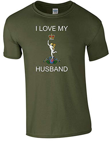 I Love My Royal Signals Husband T-Shirt Ministry of Defence Official MOD Approved Merchandise