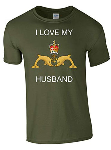 I Love My Submariner Husband T-Shirt Ministry of Defence Official MOD Approved Merchandise