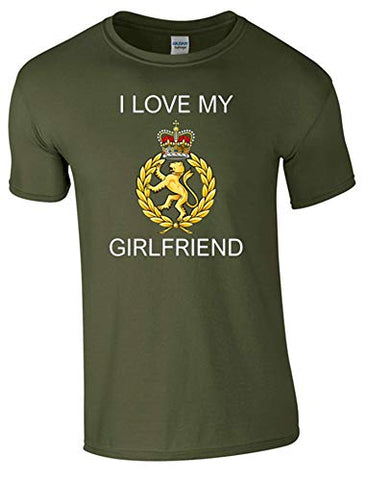 I Love My WRAC Girlfriend T-Shirt Ministry of Defence Official MOD Approved Merchandise