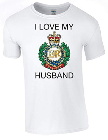 I Love My Royal Engineer (RE) Husband T-Shirt Ministry of Defence Official MOD Approved Merchandise