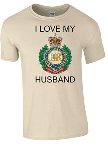 I Love My Royal Engineer (RE) Husband T-Shirt Ministry of Defence Official MOD Approved Merchandise - Army 1157 Kit  Veterans Owned Business