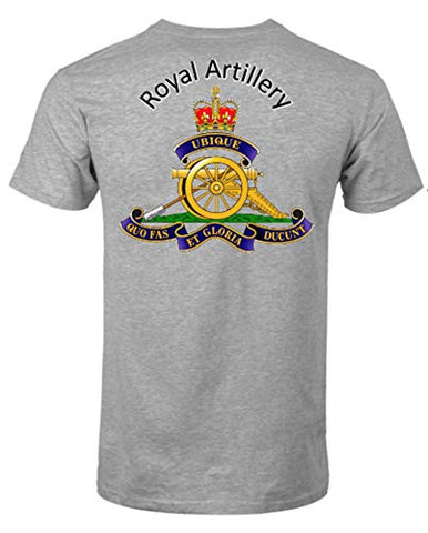Royal Artillery T-Shirt Front & Back Print Official MOD Approved Merchandise
