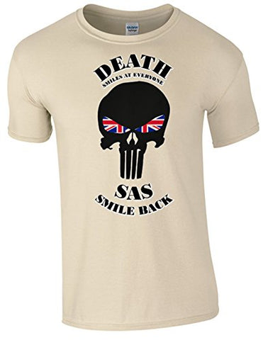 Death Smiles SAS Smile Back T-Shirt - Army 1157 Kit  Veterans Owned Business