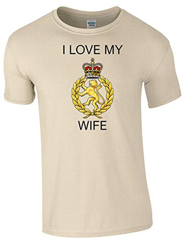 I Love My WRAC Wife T-Shirt Ministry of Defence Official MOD Approved Merchandise