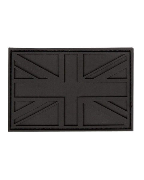 Black Union Jack Tactical Stealth Velcro Patch - Army 1157 Kit  Veterans Owned Business