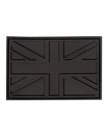 Black Union Jack Tactical Stealth Velcro Patch - Bear Essentials Clothing Company
