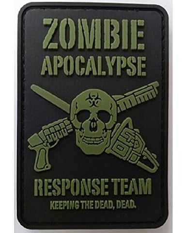 Kombat Zombie Apocalypse Response Team Patch PVC With Velcro Backing - Army 1157 Kit  Veterans Owned Business