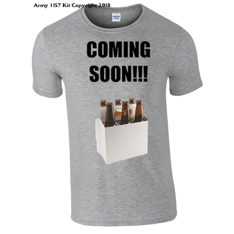 6 Pack Coming Soon Novelty T-Shirt - S / Grey - T Shirt