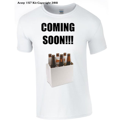 6 Pack Coming Soon Novelty T-Shirt - S / White - T Shirt