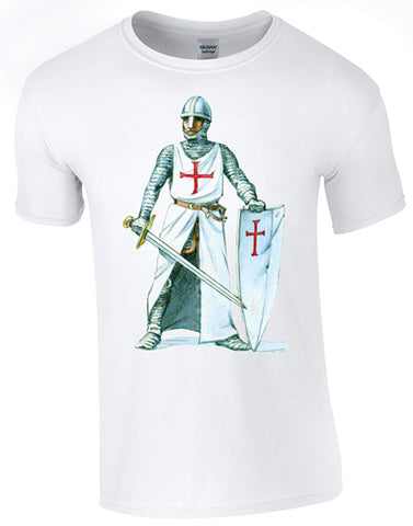 Bear Essentials Clothing. St George's Day Crusader 2 T-Shirt Printed DTG (Direct to Garment) for a Permanent Finish.