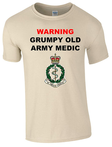 Bear Essentials Clothing. Grumpy Old Army Medics T-Shirt