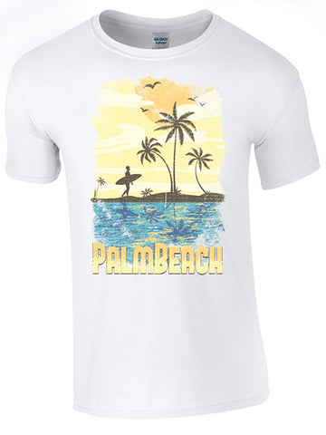 Bear Essentials Clothing. Palm Beach T-Shirt Printed DTG (Direct to Garment) for a Permanent Finish.