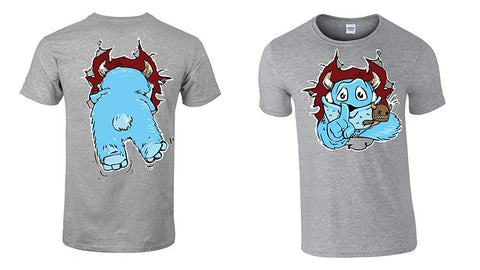 Army 1157 Kit Childrens Monster T-Shirts Back and Front