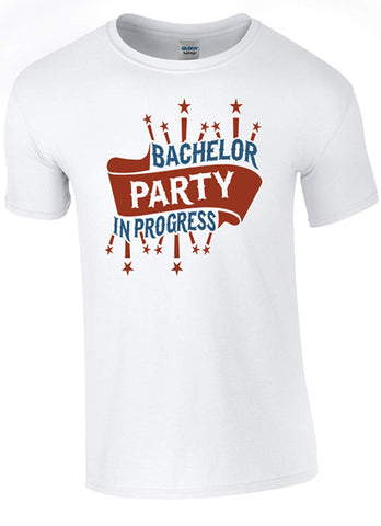 Army 1157 Kit Stag Party - Bachelor Party in Progress T-Shirt Printed DTG (Direct to Garment) for a Permanent Finish