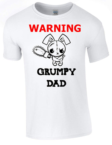Bear Essentials Clothing. Grumpy Dad T-Shirt Printed DTG (Direct to Garment) for a Permanent Finish.