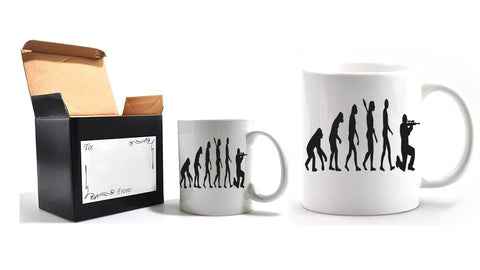 Evolution of a soldier mug and gift box - Army 1157 Kit  Veterans Owned Business
