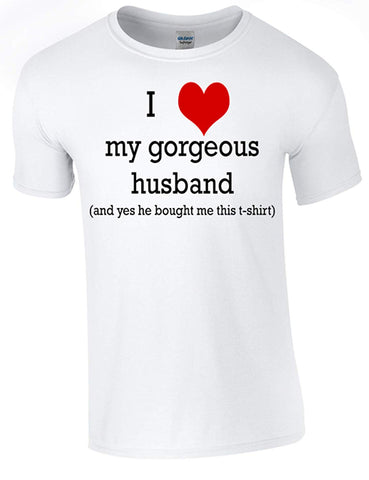 Army 1157 Kit Valentines Gorgeous Husband T-Shirt Printed DTG (Direct to Garment) for a Permanent Finish.