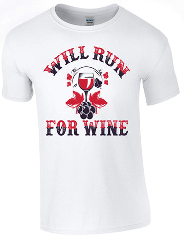 Bear Essentials Clothing. Run for Wine T-Shirt