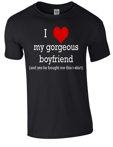 Army 1157 Kit Valentine My Gorgeous Boyfriend T-Shirt Printed DTG (Direct to Garment) for a Permanent Finish - Army 1157 Kit  Veterans Owned Business