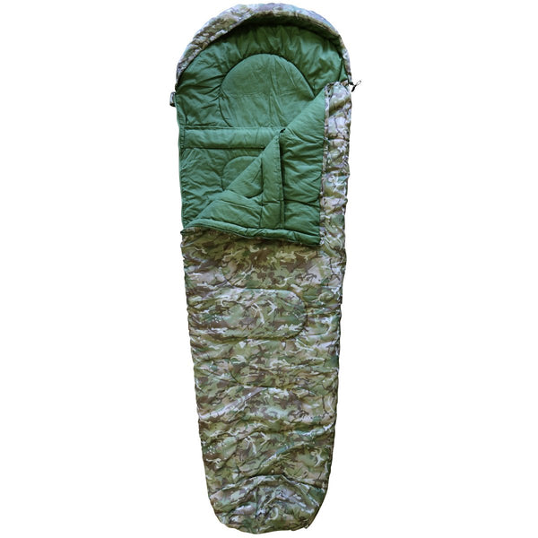 Kombat UK   Unisex Outdoor Military Sleeping Bag available in Btp (British Terrain Pattern) - One Size - Bear Essentials Clothing Company
