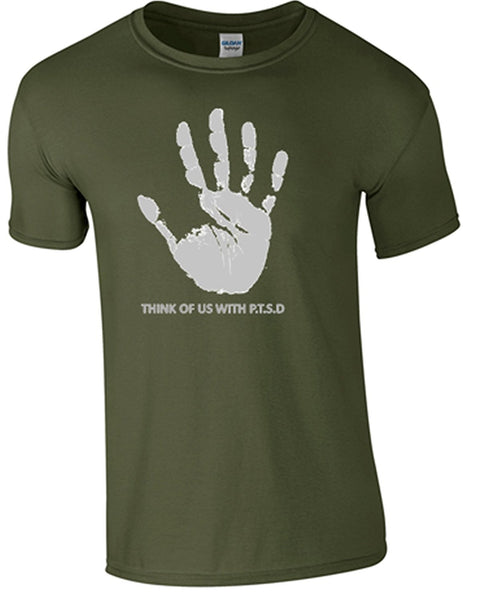 Bear Essentials Clothing. PTSD T-Shirt (S, Green) - Army 1157 Kit  Veterans Owned Business