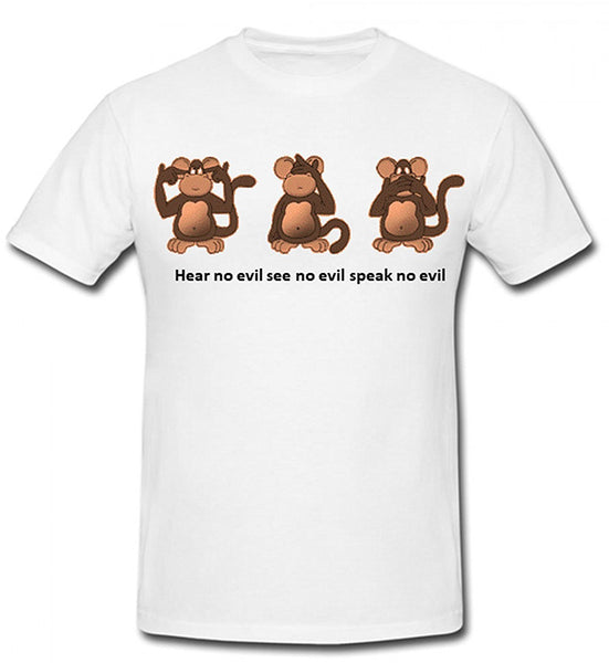 Bear Essentials Clothing. Hear No Evil T-Shirt - Army 1157 Kit  Veterans Owned Business