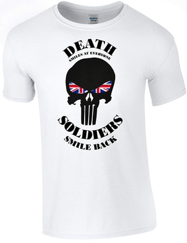 Death Smiles Soldier Smiles Back T-Shirt - Army 1157 Kit  Veterans Owned Business