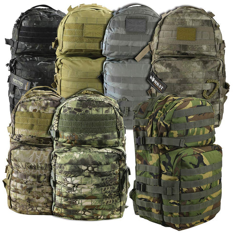 Kombat Molle Assault Pack 40 Litre Medium Olive Green - Army 1157 Kit  Veterans Owned Business