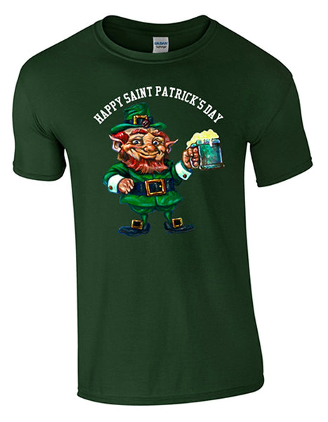 Bear Essentials Clothing. ST Patrick's Day T/Shirt (S, Forest Green) - Bear Essentials Clothing Company