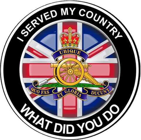 Royal Artillery What did You do T-Shirt
