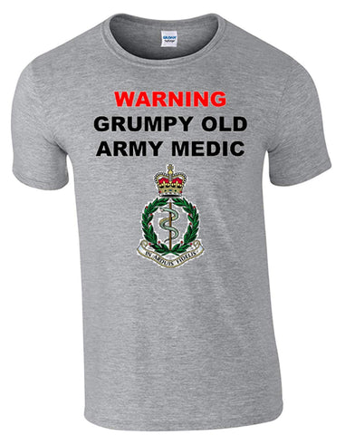 Bear Essentials Clothing. Grumpy Old Army Medics T-Shirt - Army 1157 Kit  Veterans Owned Business