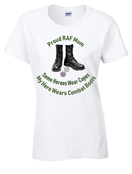 Bear Essentials Clothing Proud RAF Mum T-Shirt - Army 1157 Kit  Veterans Owned Business
