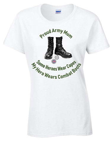 Bear Essentials Proud Army Mum T-Shirt