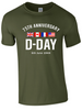 D-Day 75th Anniversary T-Shirt - Army 1157 Kit  Veterans Owned Business