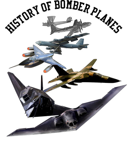 Bear Essentials Clothing. History Of Bomber Planes T Shirt - Bear Essentials Clothing Company