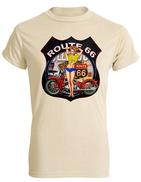 Bear Essentials Clothing. Route 66 (XL, Sand) - Bear Essentials Clothing Company