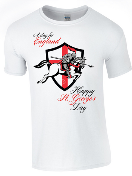 St George's Day A Day for England T-Shirt Printed DTG (Direct to Garment) for a Permanent Finish. - Army 1157 Kit  Veterans Owned Business
