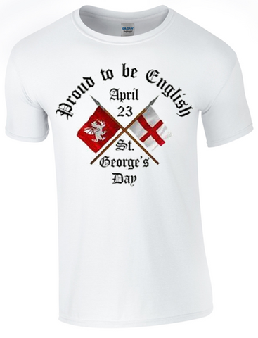 St George's Day  Proud to be English T-Shirt Printed DTG (Direct to Garment) for a Permanent Finish. - Army 1157 Kit  Veterans Owned Business