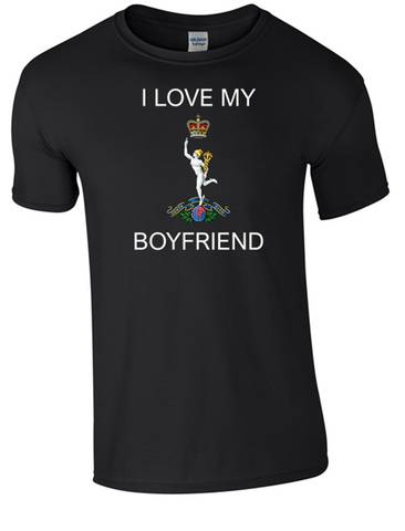 I Love my Royal Signals Boyfriend T-Shirt Official MOD Approved Merchandise