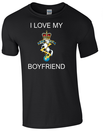 I Love my REME Boyfriend T-Shirt Official MOD Approved Merchandise - Army 1157 Kit  Veterans Owned Business