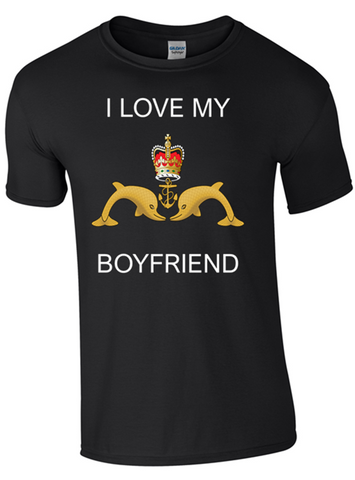 I Love my Submariner Boyfriend T-Shirt Official MOD Approved Merchandise
