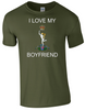 I Love my Royal Signals Boyfriend T-Shirt Official MOD Approved Merchandise - Army 1157 Kit  Veterans Owned Business