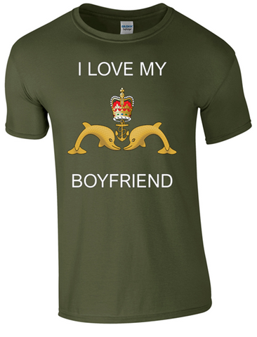 I Love my Submariner Boyfriend T-Shirt Official MOD Approved Merchandise - Army 1157 Kit  Veterans Owned Business