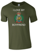 I Love my Royal Engineer (RE) Boyfriend T-Shirt Official MOD Approved Merchandise - Army 1157 Kit  Veterans Owned Business