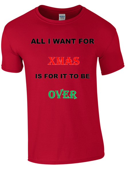 All I Want for Christmas T-Shirt - Army 1157 Kit  Veterans Owned Business