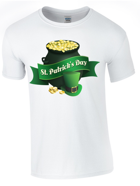 t Patrick's Day Celebration T-Shirt Printed DTG (Direct to Garment) for a Permanent Finish.