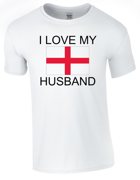 valentine I Love my English Husband Printed DTG (Direct to Garment) for a permanent finish. - Army 1157 Kit  Veterans Owned Business