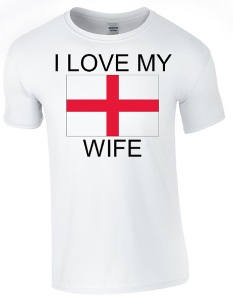 Valentine I Love my English Wife Printed DTG (Direct to Garment) for a permanent finish. - Army 1157 Kit  Veterans Owned Business