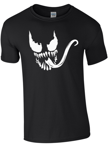 Scary Face T-Shirt Printed DTG (Direct to Garment) for a Permanent Finish.